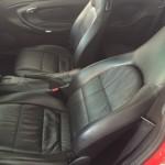 ポルシェ運転席シート修理後全体画像